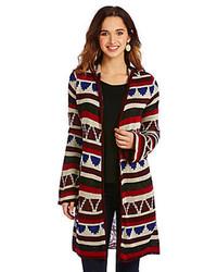 Copper Key Tribal Geo Duster Cardigan Sweater