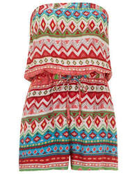 Dorothy Perkins Petals Multi Coloured Print Playsuit