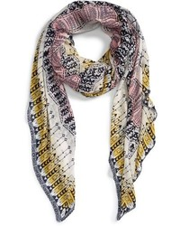 Sole Society Geometric Print Scarf