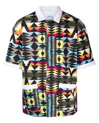 Marcelo Burlon County of Milan Geometric Print Short Sleeve Shirt