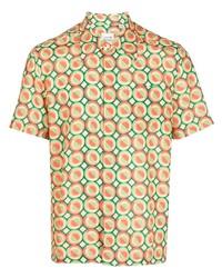 Lacoste Geometric Print Short Sleeved Shirt