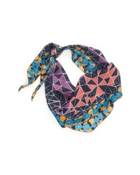 Echo Tiled Together Diamond Cut Silk Scarf