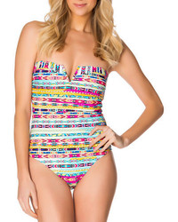Jessica Simpson One Piece Tribal Stripe Swimsuit