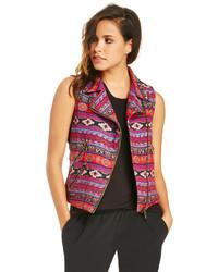 Multi colored Geometric Vest