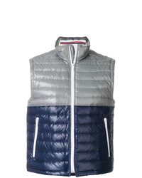 Thom Browne Down D Bicolor Tech Vest In Satin Finish