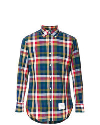 Multi colored Gingham Dress Shirt