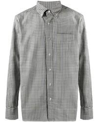 Tom Ford Button Down Collar Gingham Shirt