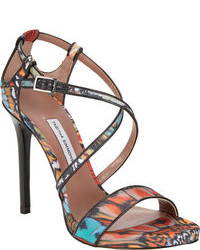 Multi colored heeled sandals original 1639581
