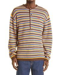 Loewe Stripe Anagram Wool Sweater