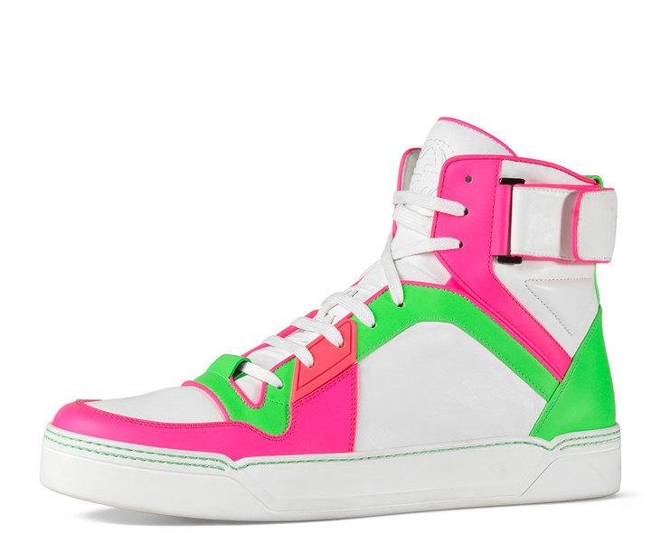 7b4e44ccc67 ... Sneakers Gucci New Basketball High Top Neonwhite ...