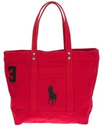 Ralph Lauren Blue Big Pony Zip Tote