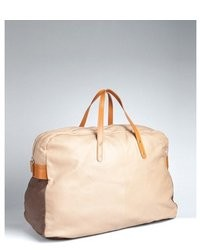 Paul Smith Tan Leather Colorblock Luxe Nappa Holdall Bag
