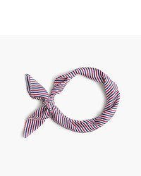 J.Crew Striped Silk Scarf
