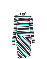 Tufi Duek Striped Short Dress