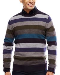 Argyleculture Long Sleeve Striped Sweater