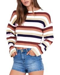 Amuse Society Bahia Stripe Crop Sweater