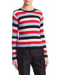 Valentino Garavani Striped Crewneck Sweater