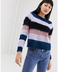 Only High Neck Multi Knit Jumper
