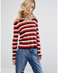 Whistles Multi Stripe Knitted Sweater