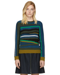 Kenzo Multicolor Broken Stripes Sweater