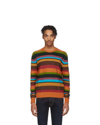 Etro Multicolor Stripe Crewneck Sweater