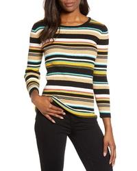 Vince Camuto Multicolored Rib Sweater