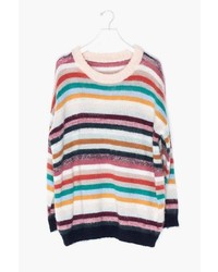 Genuine People Oversized Loose Striped Sweater