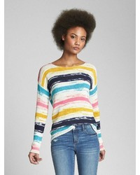Gap Print Boatneck Pullover Sweater