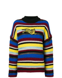 Kenzo Striped Tiger Patch Sweater