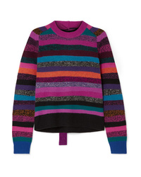 Marc Jacobs Tie Back Striped Cashmere Sweater