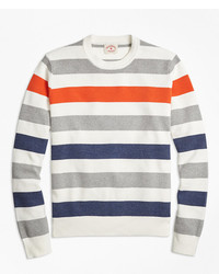 Brooks Brothers Multi Stripe Crewneck Sweater