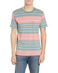 RVCA Rusholme Stripe T Shirt