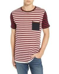 Scotch & Soda Stripe Merino Wool Pocket T Shirt
