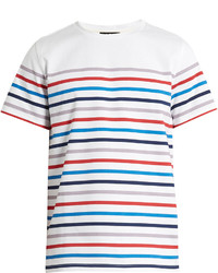A.P.C. Striped Crew Neck Cotton T Shirt