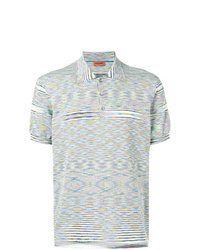 Missoni Striped Short Sleeve Polo Top