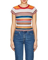 Rag & Bone Katie Metallic Striped T Shirt