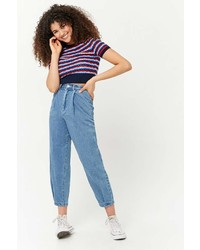 Forever 21 Striped Open Knit Top