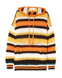 Loewe Paulas Ibiza Hooded Striped Knitted Sweater