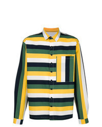 Multi colored Horizontal Striped Long Sleeve Shirt
