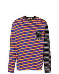 Multi colored Horizontal Striped Long Sleeve T-Shirt