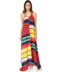 Hilfiger collection rugby stripe racer back maxi dress medium 1252952