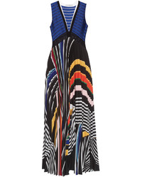 Rindi v neck stripe print maxi dress medium 1252950
