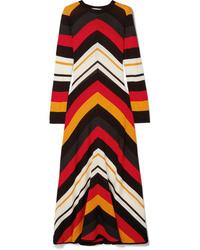 MSGM Striped Wool Blend Maxi Dress