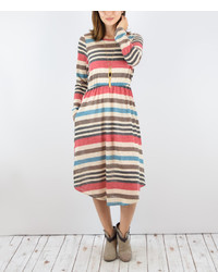Multicolor stripe midi dress medium 1250983