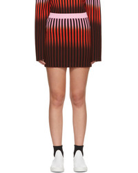 Opening Ceremony Multicolor Dip Dye Striped Miniskirt