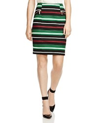 Multi colored Horizontal Striped Pencil Skirt