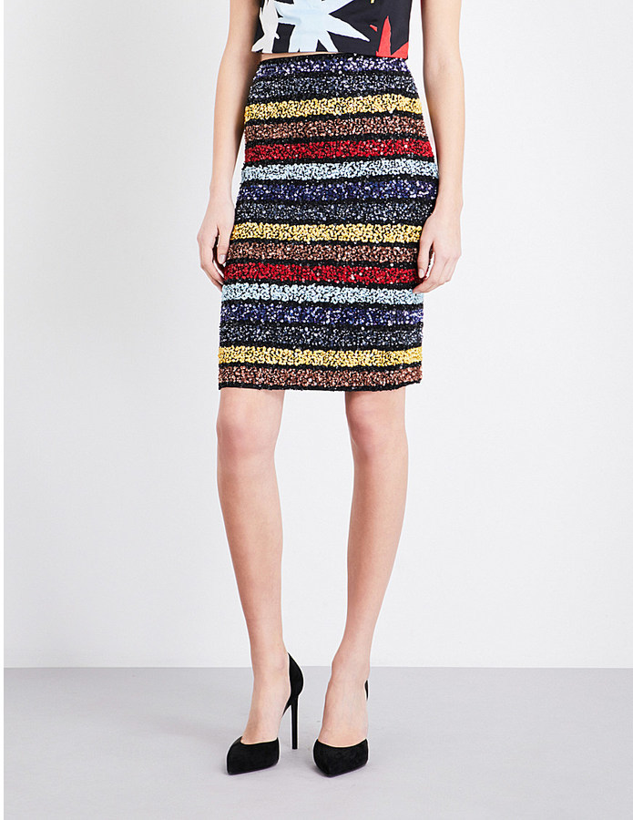 a4a9a5bae3 ... Striped Pencil Skirts Alice + Olivia Alice Olivia Ramos Sequin  Embellished Skirt ...
