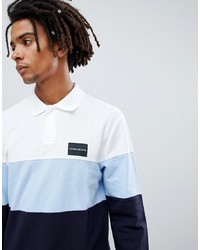 Calvin Klein Jeans Long Sleeve Rugby Polo With Colourblock And Logo Detail