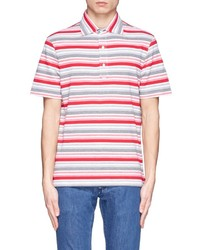 Multi colored Horizontal Striped Polo
