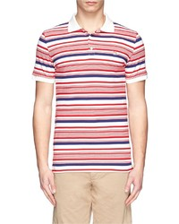 Nobrand Irregular Stripe Cotton Polo Shirt